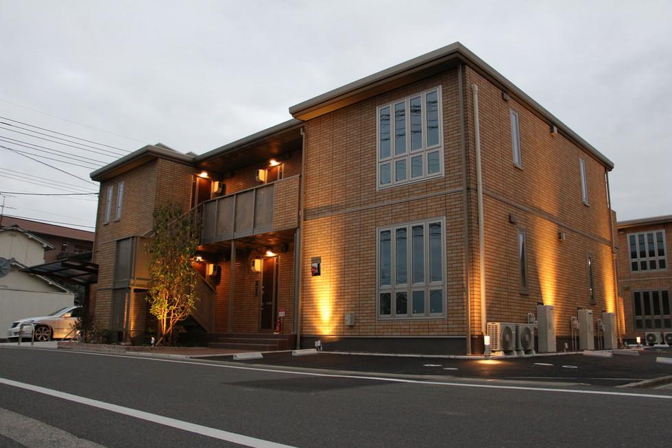 03/13 集合住宅の緑とあかり ガーデン工事+照明計画
