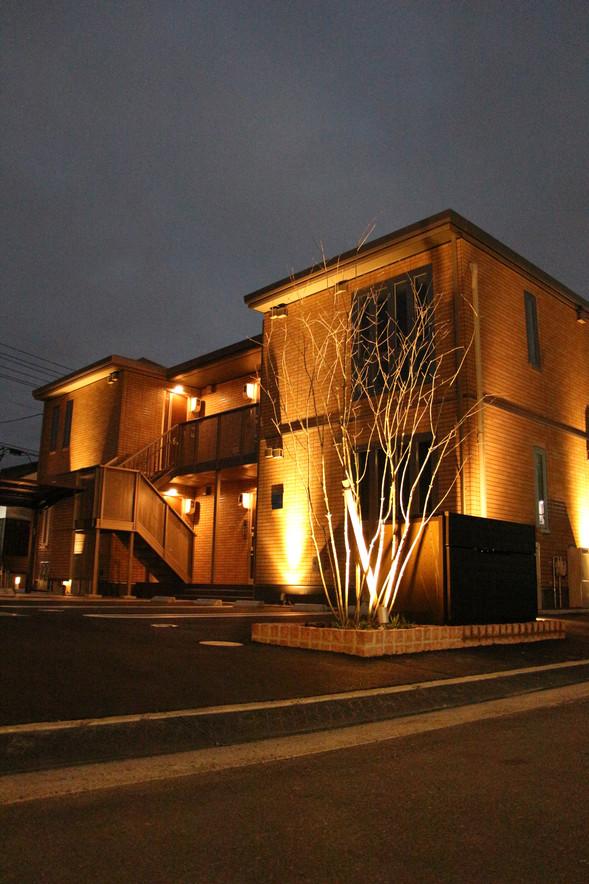 02/13 集合住宅の緑とあかり ガーデン工事+照明計画