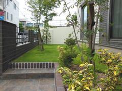 普段着の庭