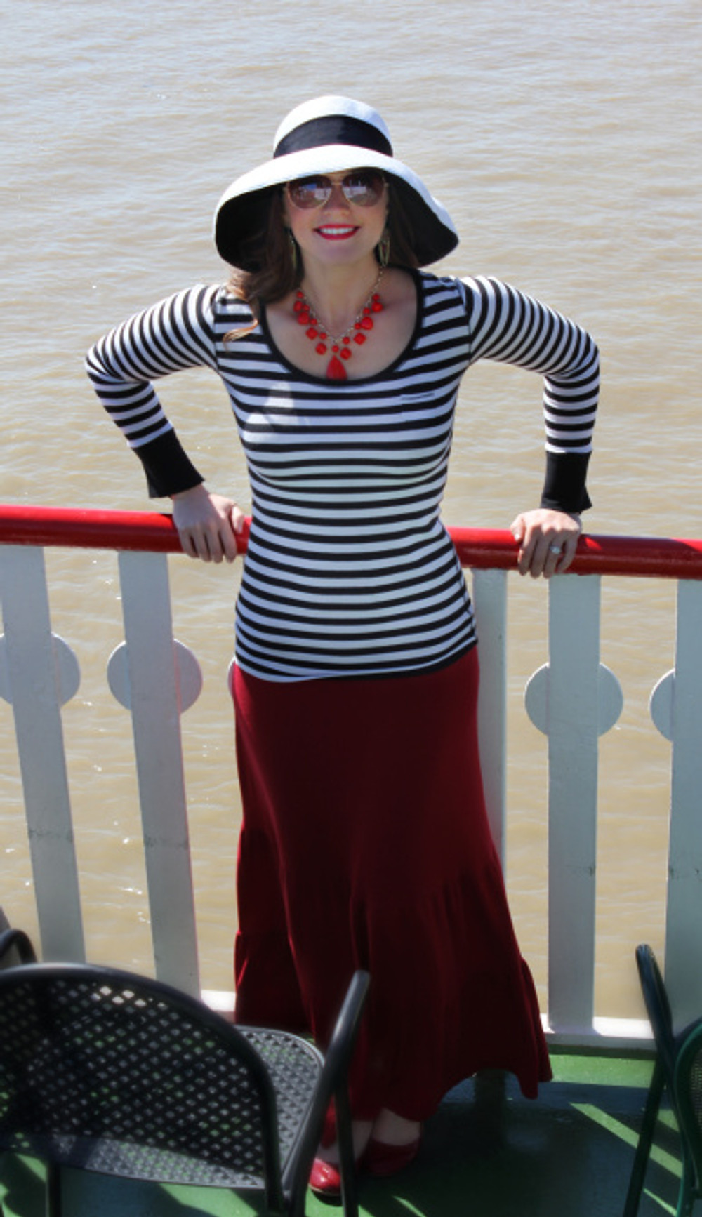 Enjoying some sun on our Jazz Lunch Cruise aboard the Natchez Steamboat.