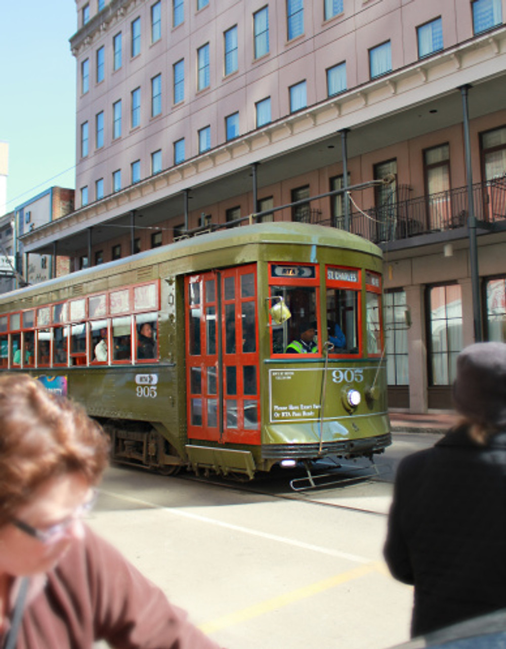 The historic trolleys that will take you all over the city.