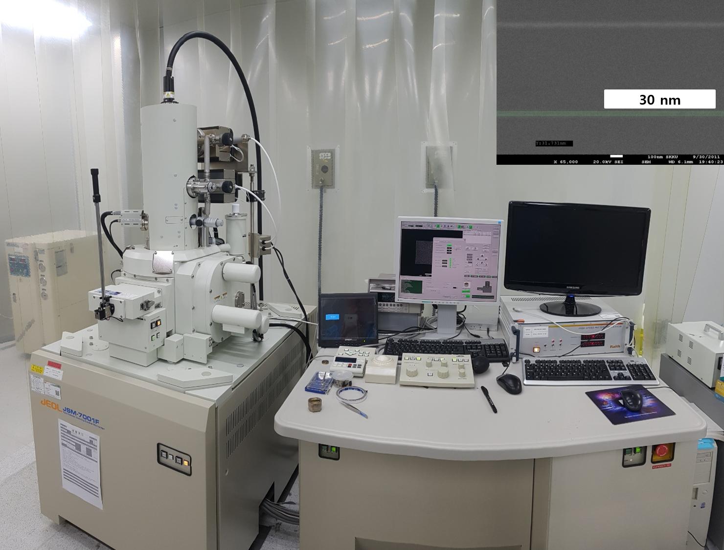 Field Effect - Scanning Electron Microscope (FE-SEM), Rapid Pattern Processor(JEOL, Raith)