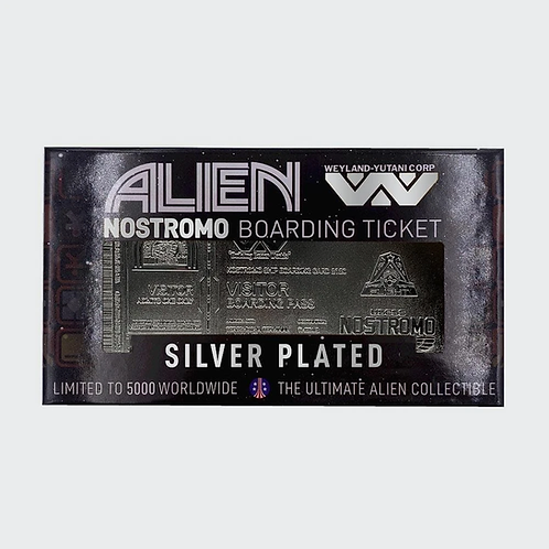 ALIEN NOSTROMO TICKET LIMITED EDITION SILVER PLATED