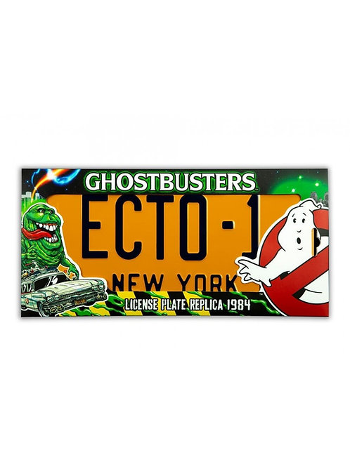 GHOSTBUSTERS ECTO-1 LICENSE PLATE