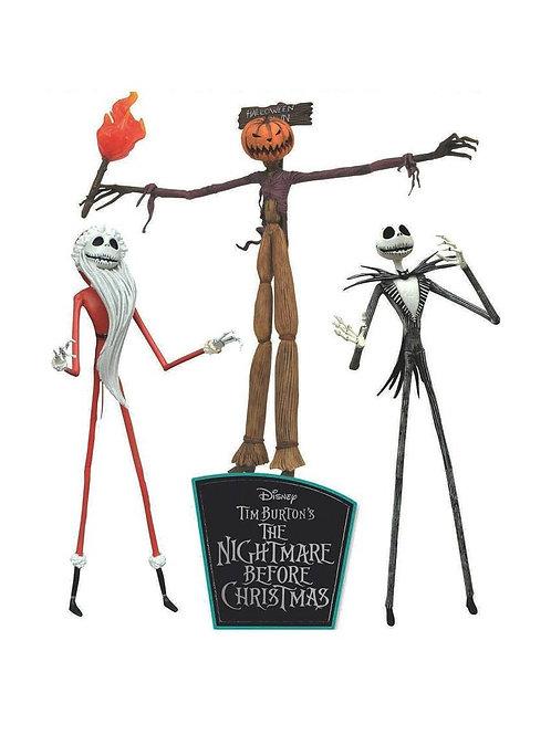 NIGHTMARE BEFORE CHRISTMAS THE JOBS OF JACK SKELLINGTON 3 PACK (ACTION FIGURE)