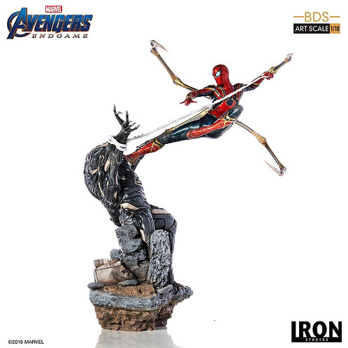 MARVEL AVENGERS ENDGAME BDS ART SCALE IRON SPIDER vs OUTRIDER (ESTÁTUA)