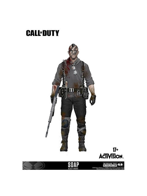 "CALL OF DUTY JOHN ""SOAP"" MACTAVISH DLC (ACTION FIGURE)"