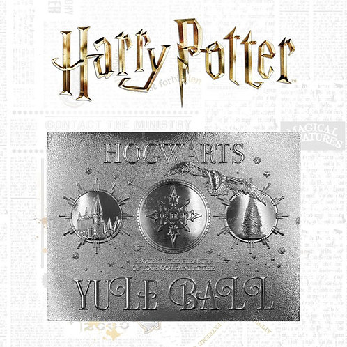 HARRY POTTER YULE BALL TICKET LIMITED EDITION SILVER PLATED