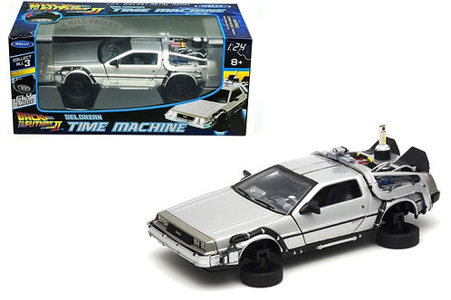 BACK TO THE FUTURE II 81 DELOREAN LK COUPE FLY WHEEL DIECAST