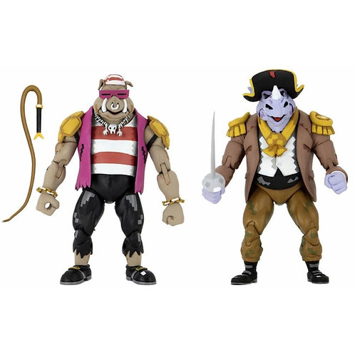 TMNT TURTLES IN TIME 2 PACK PIRATE ROCKSTEADY & BEBOP (ACTION FIGURE)