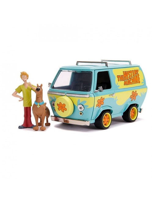 SCOOBY DOO HOLLYWOOD RIDES DIECAST MODEL MYSTERY VAN WITH FIGURES