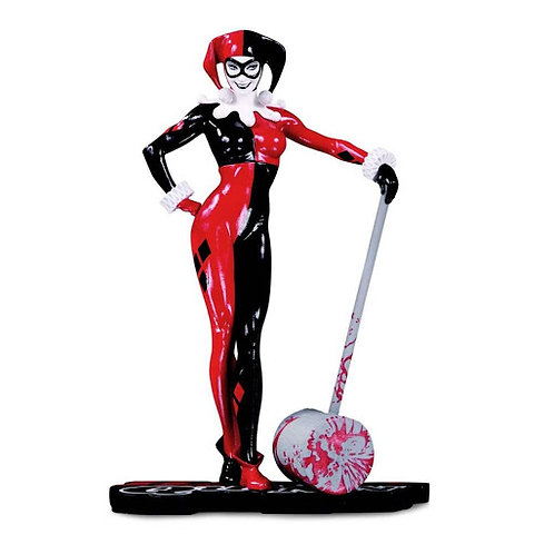 DC COMICS RED WHITE & BLACK HARLEY QUINN BY ADAM HUGHES (ESTÁTUA)