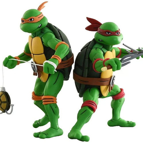 TMNT MICHELANGELO & RAPHAEL (ACTION FIGURE)