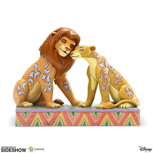 DISNEY SIMBA AND NALA SNUGGLING BY JIM SHORE (ESTÁTUA)