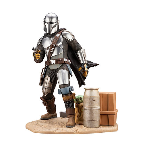 STAR WARS THE MANDALORIAN ARTFX MANDALORIAN & THE CHILD (ESTÁTUA)
