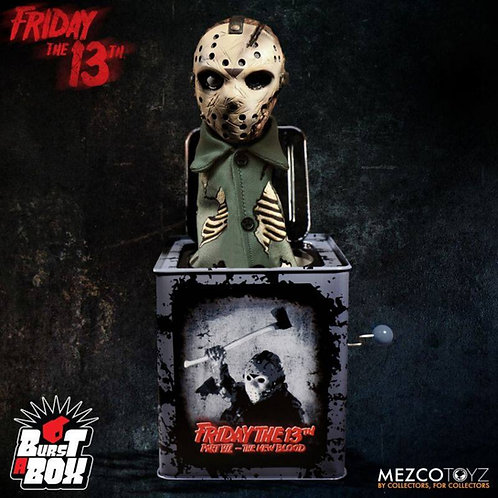 FRIDAY THE 13TH BURST-A-BOX MUSIC BOX JASON VOORHEES