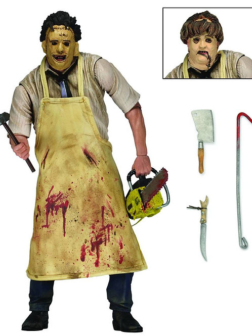 TEXAS CHAINSAW MASSACRE RETRO 40th ANN. ULTIMATE LEATHERFACE (ACTION FIGURE)