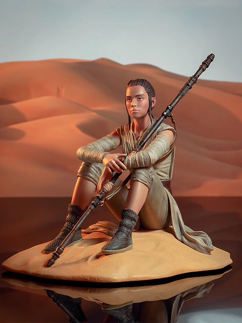 STAR WARS EP. VII PREMIER COLLECTION REY DREAMER (ESTÁTUA)