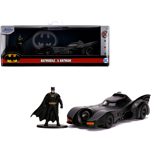 BATMAN 1989 HOLLYWOOD RIDES DIECAST MODEL WITH FIGURE