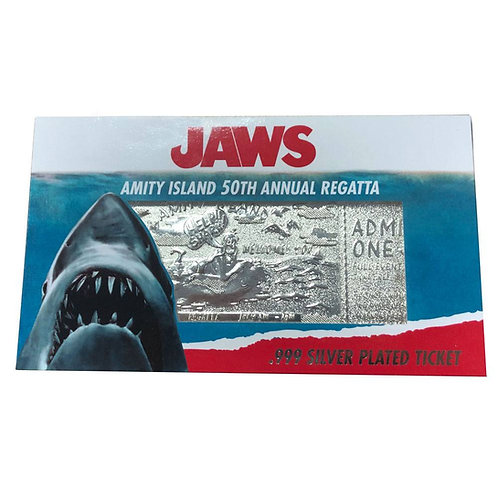 JAWS REGATTA TICKET LIMITED EDITION SILVER PLATED