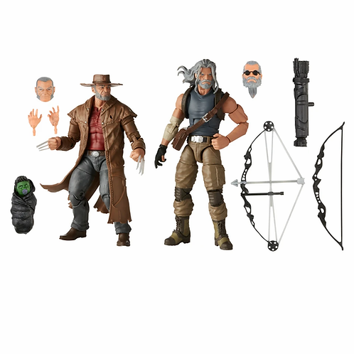 MARVEL LEGENDS 20202 PACK OLD MAN LOGAN & HAWKEYE (ACTION FIGURE)