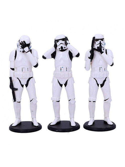 STAR WARS THREE WISE STORMTROOPERS (ESTÁTUA)