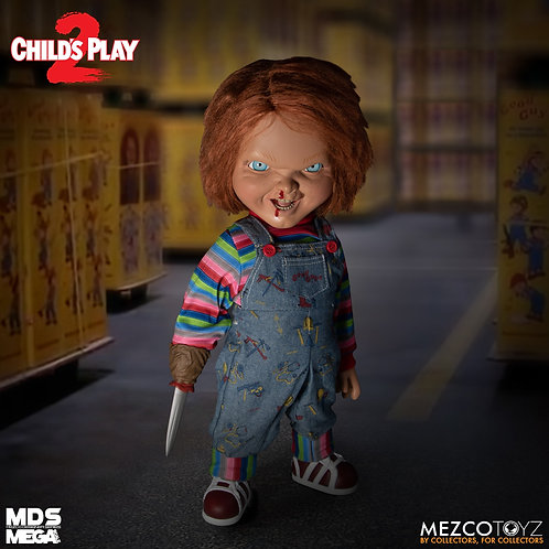 CHILD'S PLAY 2 DESIGNER SERIES TALKING MENACING CHUCKY (ACTION FIGURE)