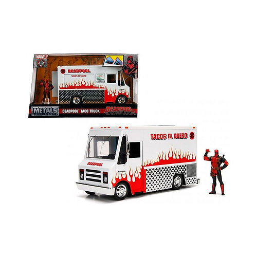 MARVEL DEADPOOL DIECAST MODEL TACO TRUCK