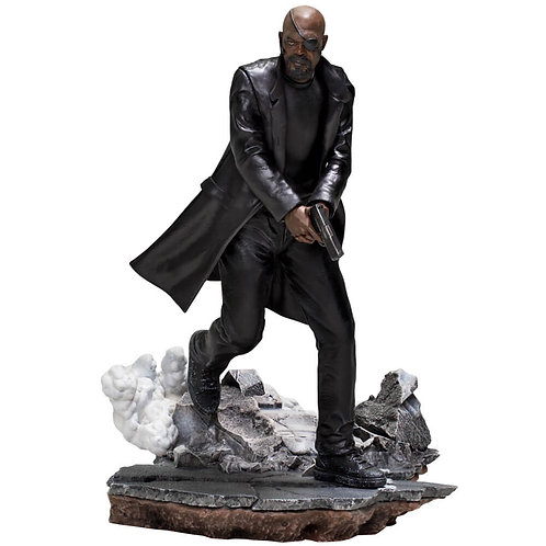MARVEL SPIDER-MAN FAR FROM HOME BDS ART SCALE NICK FURY (ESTÁTUA)
