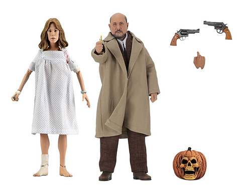 HALLOWEEN 2 RETRO 2 PACK DOCTOR LOOMIS & LAURIE STRODE (ACTION FIGURE)