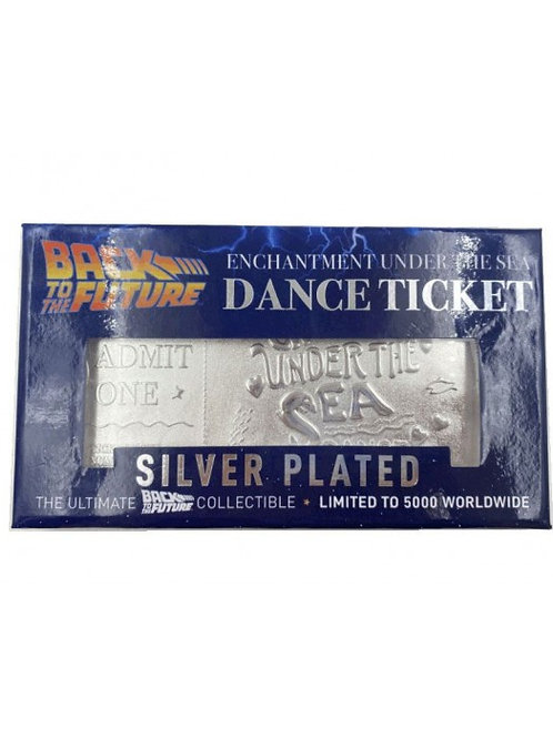 BACK TO THE FUTURE ENCHANTMENT UNDER THE SEA TICKET LIMITED EDITION SILVER PLATE
