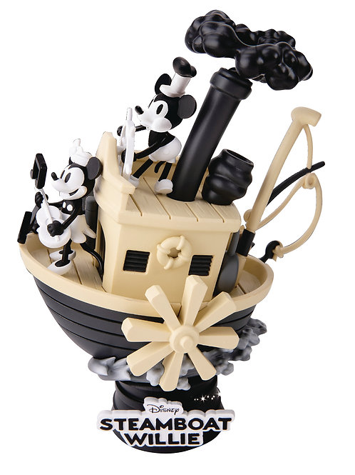 DISNEY STEAMBOAT WILLIE DIORAMA MICKEY & MINNIE (ESTÁTUA)