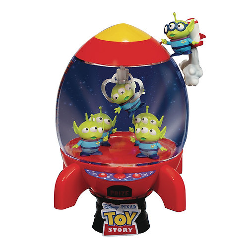 DISNEY TOY STORY D-STAGE ALIEN'S ROCKET DELUXE EDITION DIORAMA
