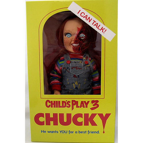 CHILD'S PLAY 3 DESIGNER SERIES TALKING PIZZA FACE CHUCKY (ACTION FIGURE)