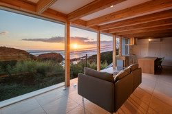 Ocean View Living Space (sunset)