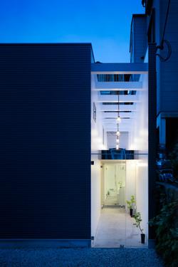 facade-Evening view