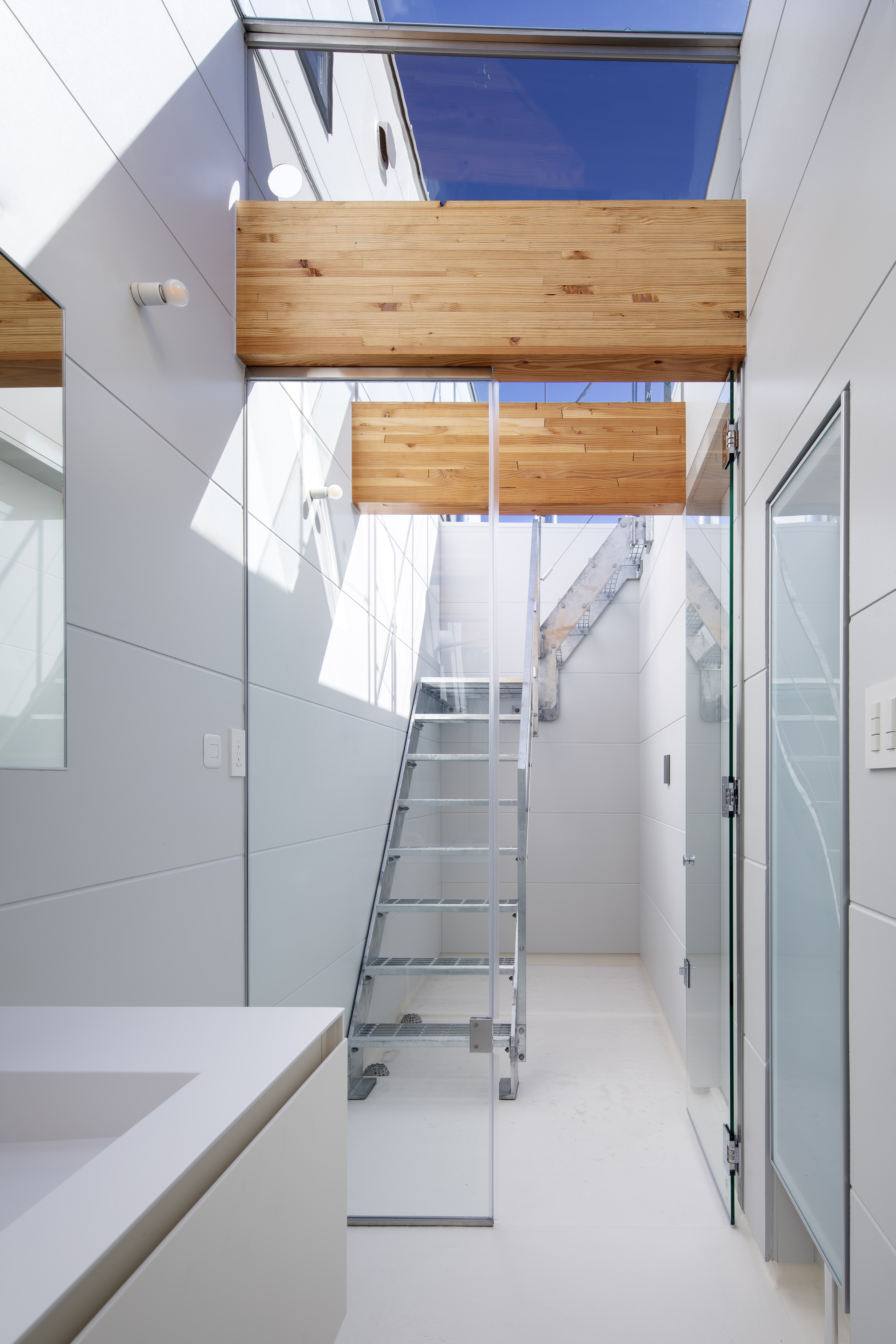 Sky View Living Space with stairs to the roof terrace
