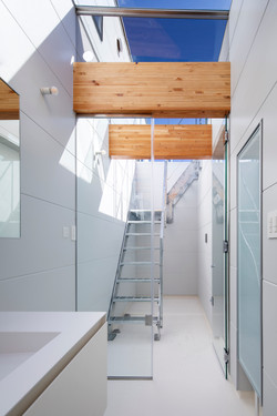 Sky View Living Space with stairs to the terrace
