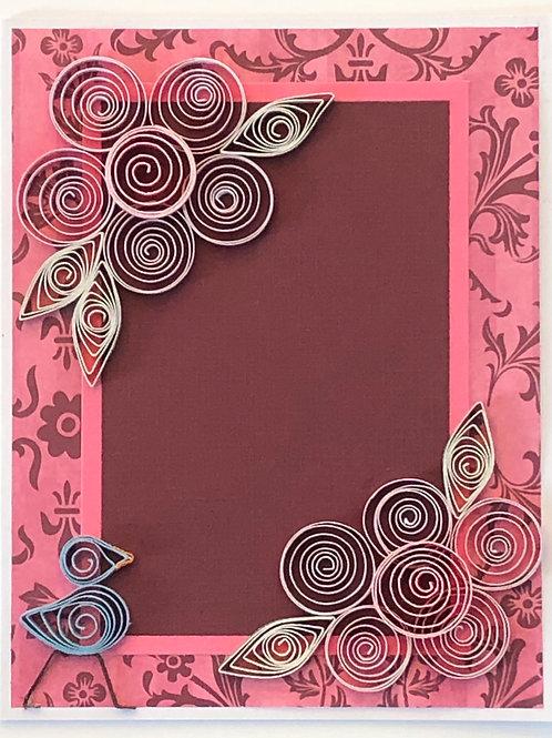 Blue Bird Series – Five Petal Flowers in Pink and Maroon