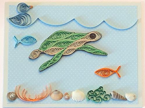 Blue Bird Series – Turtle Under the Sea