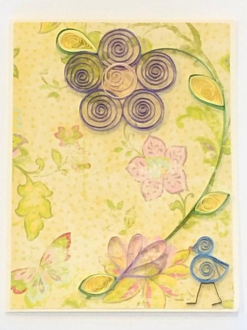 Blue Bird Series- Five Petal Flower (Purple and Pink)