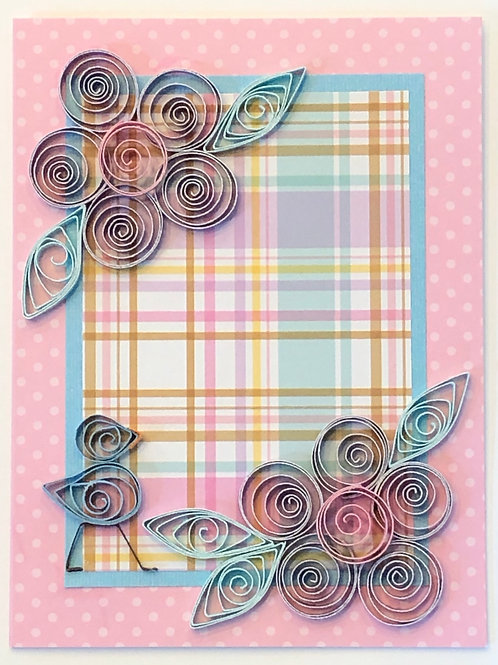 Blue Bird Series – Lavender, pink, and turquoise floral design