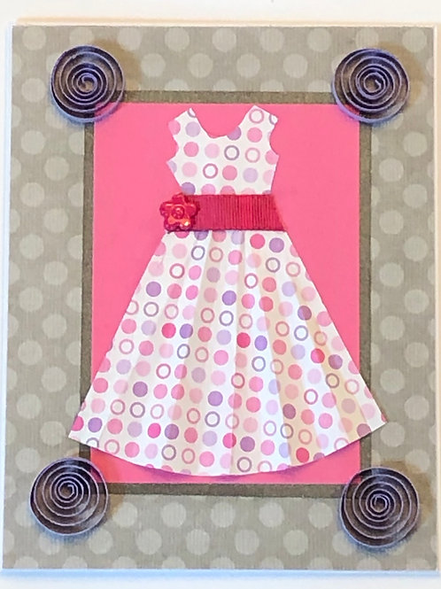 Origami Series – Pink and Purple Polka Dot Dress