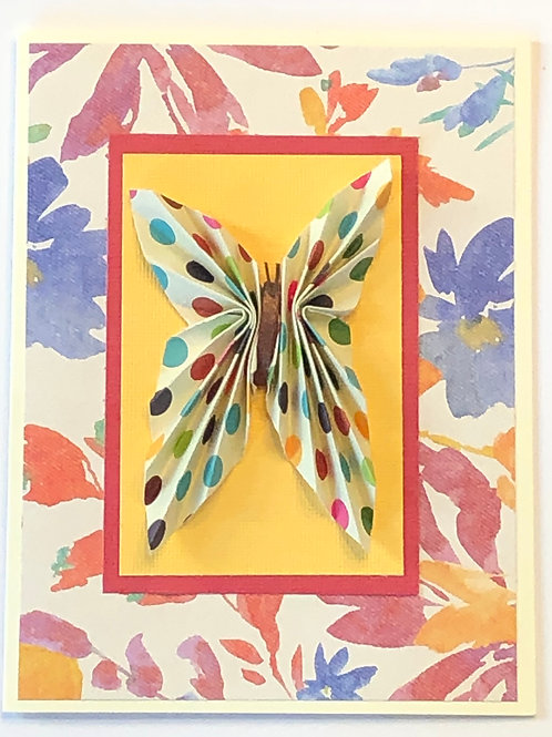 Origami Series – Polka Dot Butterfly