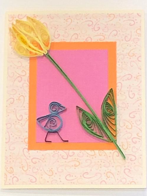 Blue Bird Series- Yellow Tulip