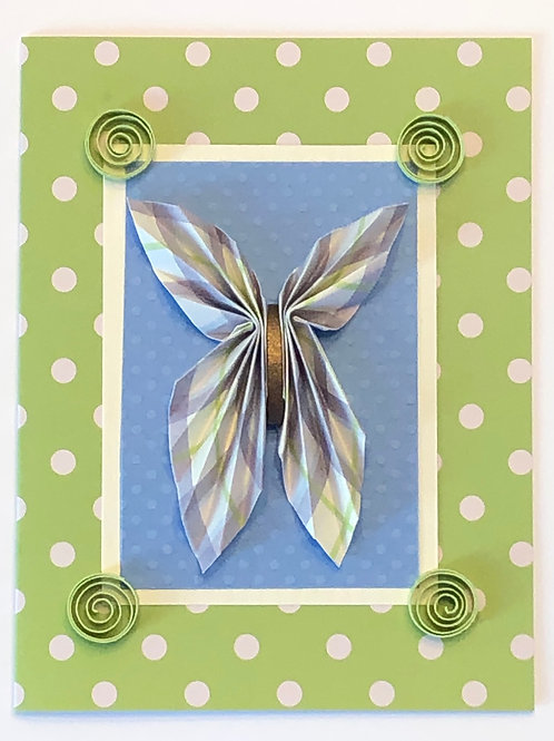 Origami Series – Lime Green and Blue Butterfly Design