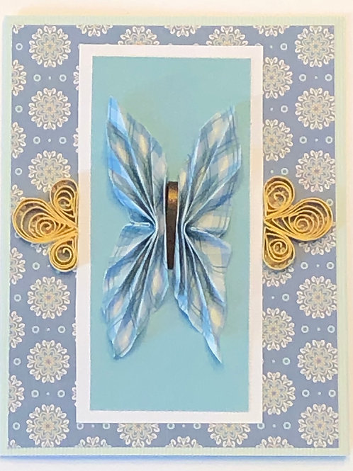 Origami Series – Blue and White Butterfly