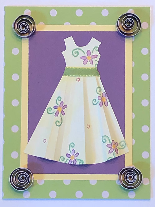 Origami Series – Yellow and Purple Floral Dress