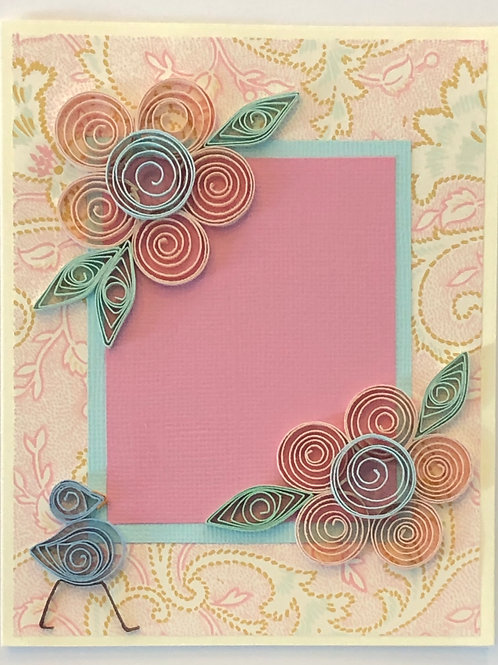 Blue Bird Series – Five Petal Flower in Pink and Blue
