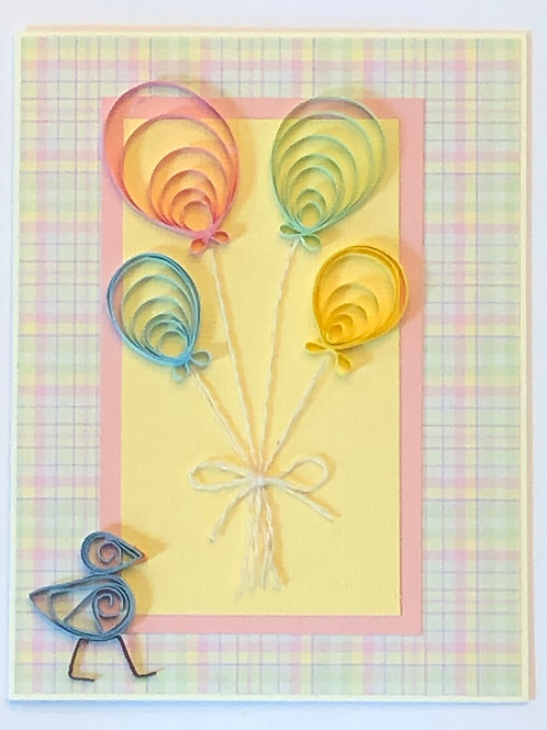 Blue Bird Series – Pastel Balloons